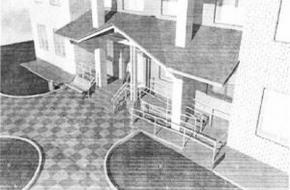 Представлен дизайн-проект входной группы поликлиники Спировской районной больницы