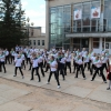Лихославльские автоинспекторы провели танцевальный флешмоб «Будь ярким! Стань заметным!»