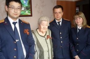 Сотрудники Калининского межрайонного следственного отдела приняли участие в торжествах, посвященных Дню Победы
