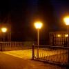В Калашниково «зажгли» стилизованные фонари возле Обелиска калашниковцам павшим в ВОВ