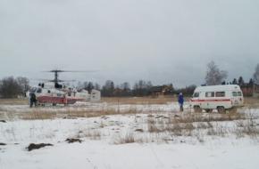 В Торжок на вертолете для лечения доставили тяжелобольную женщину