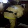 Вечером в Лихославле из-за неосторожной эксплуатации отопительной печи загорелась баня (фото)