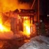 В Торжке из-за короткого замыкания электропроводки сгорел гараж (фото)