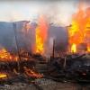 Появилось видео страшного пожара в Лихославльском районе, в котором погиб человек