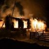 Ночью в Лихославльском районе из-за отопительной печи сгорел жилой дом (фото)