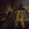 Ранним утром в Торжке сгорел гараж (фото)