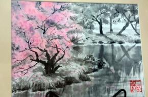 В Лихославле открылась выставка «Волшебство японской кисти»