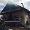 Днем в Лихославле из-за небрежности сгорел жилой дом (фото)