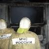 В Лихославле сгорела строительная бытовка (фото)