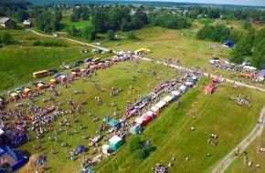 Фестиваль карельского пирога «Калитка» с высоты птичьего полёта (видео)