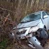 В Торжокском районе иномарка вылетела с дороги в дерево (фото)
