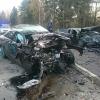 В Тверской области лихач на иномарке влетел на встречке «лоб в лоб» и погиб (фото, видео с регистратора)
