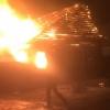 В Торжке сгорел жилой дом, есть пострадавший (видео)