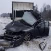 В Спировском районе водитель дорогой иномарки погиб в столкновении с грузовиком (фото)