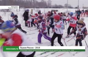В Лихославле прошел муниципальный этап Всероссийской лыжной гонки «Лыжня России — 2018» (видео)