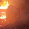 В Торжокском районе огонь полностью уничтожил жилой дом (фото)