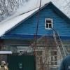В Лихославле сгорел жилой двухквартирный дом (видео)