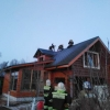 Вечером в Лихославле загорелась баня (фото)
