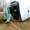 В Торжке перевернулся экскурсионный автобус, есть погибшие и раненные (фото)