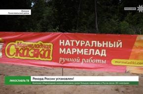 Компания «Мармеладная сказка» изготовила самую большую мармеладку в России весом 281 килограмм (видео)