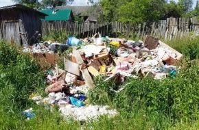 В поселке Калашниково идет борьба с несанкционированными свалками мусора, которые устраивают местные жители
