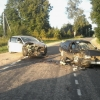 В Спировском районе пьяная автоледи на иномарке «лоб в лоб» влетела в легковушку (фото)