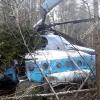 В Тверской области в густом лесу рухнул вертолет, один человек погиб (фото)