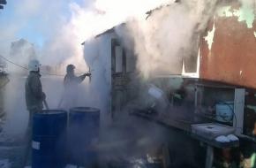 В деревне в Торжокском районе сгорел вагончик (фото)