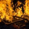 В Приозерном сгорела бытовка