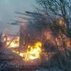 В Торжокском районе из-за короткого замыкания сгорел жилой дом (фото)