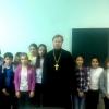 Священник рассказал школьникам поселка Калашниково о Рождестве