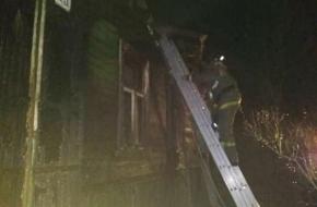 В Крючково сгорел дом, в огне погиб человек