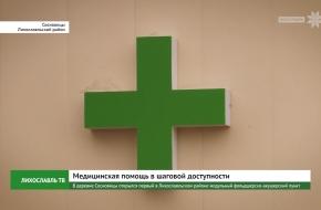 В деревне Сосновицы открылся первый в Лихославльском районе модульный фельдшерско-акушерский пункт (видео)
