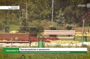 В Лихославле в рамках ППМИ продолжается благоустройство Парка 70-летия победы (видео)