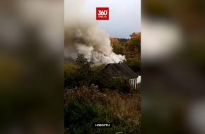 В поселке Калашниково сгорел частный жилой дом (видео)