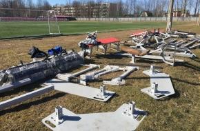 В Лихославле началась установка оборудования на новой спортивной площадке