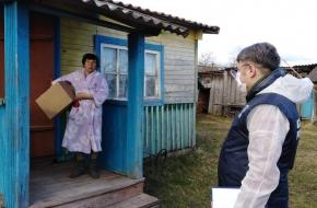 В Микшинском cельском поселении нуждающимся выдали 44 продуктовых набора