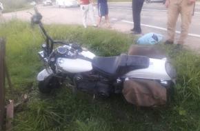 В Лихославльском районе мопед протаранил мотоцикл Harley-Davidson, есть пострадавшие (фото)