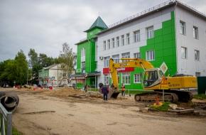 В городе Лихославле начался ремонт улицы Советской (фото)