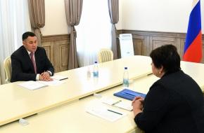 Губернатор Игорь Руденя провёл встречу с главой Лихославльского района Натальей Виноградовой
