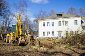 В Лихославле началось благоустройство парка около Центра дополнительного образования