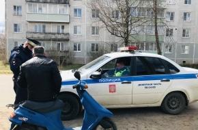 Инспекторы ГИБДД провели в поселке Калашниково профилактическое мероприятие «Мототранспорт»