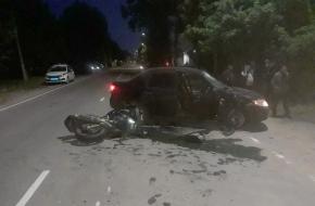 В Лихославле водитель легковушки сбил мотоциклиста (фото)