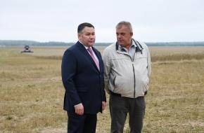 Игорь Руденя посетил Лихославльский муниципальный округ и обсудил с аграриями региона развитие сельского хозяйства