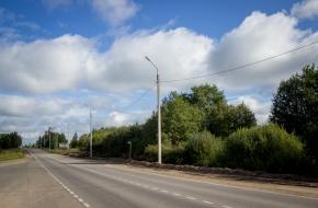 В Лихославле осветили дорогу протяженностью свыше 1,3 километра