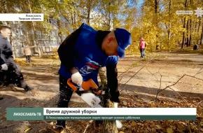 В Лихославльском муниципальном округе проходят осенние субботники (видео)