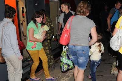 Беженцы с Украины, прибывшие в Тверскую область. Фото: region.tver.ru