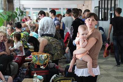Вынужденные переселенцы из Украины. Фото: twitter.com