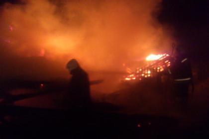 Рождественской ночью в Торжке сгорел сарай (фото)