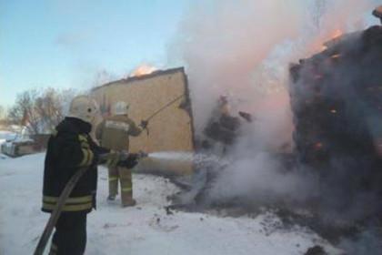 В деревне под Торжком из-за короткого замыкания сгорел дачный дом (фото)